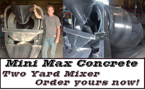 mini small concrete mixer