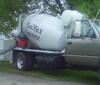 small concrete truck