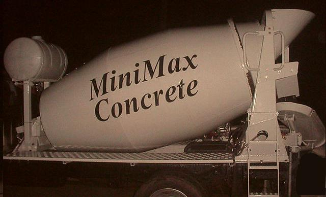 mini concrete mixer truck