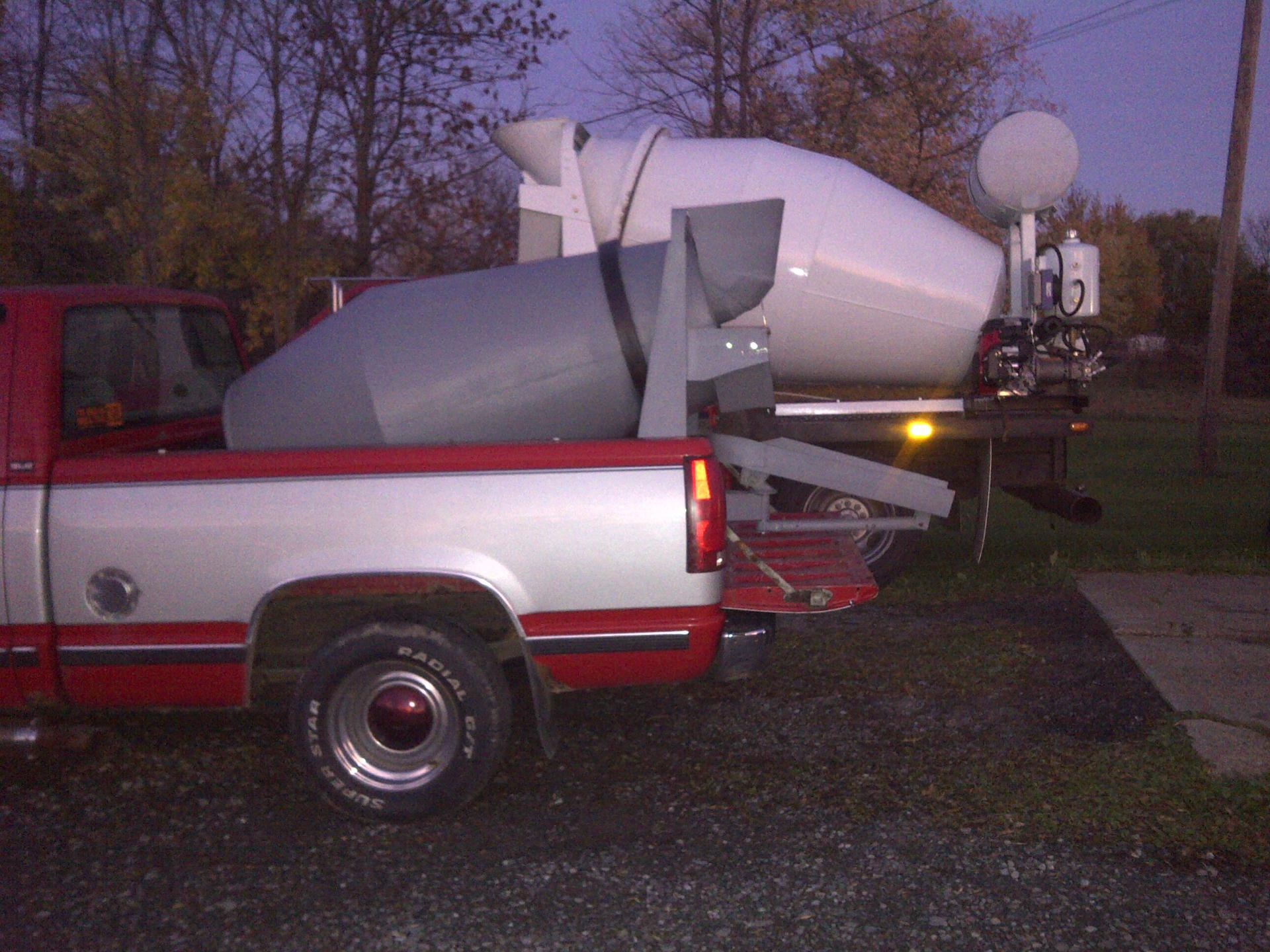 half yard concrete mixer
